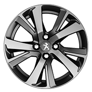 Jante aluminium Peugeot 2008 Crossway - Eridan Gris 17 pouces
