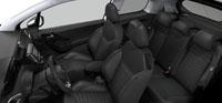 Intérieur Bi-matière 3D Ekmet Noir/Gris Peugeot 208