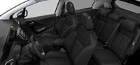 Intérieur Cuir Claudia Noir Mistral Peugeot 208