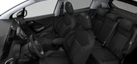 Intérieur Mi-cuir / alcantara Mario mistral Peugeot 208