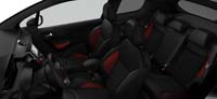 Intérieur Mi-cuir Club Nappa Maille Caro Noir Mistral Peugeot 208