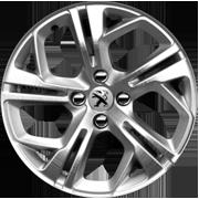 Jante Peugeot 208 GTi Carbone Diamantée / Gris Etincelle 17 pouces