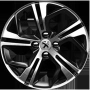Jante Peugeot 208 GTi Carbone Diamantée / Noir Onyx 17 pouces