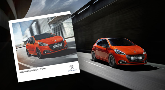 la brochure peugeot 208 restyl e est disponible news f line 208. Black Bedroom Furniture Sets. Home Design Ideas