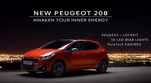 publicit tv peugeot 208 restyl e awaken your inner energy 45s 2015 vid os f line 208. Black Bedroom Furniture Sets. Home Design Ideas