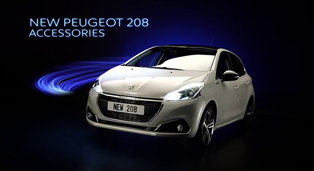 vid o accessoires peugeot 208 restyl e vid os f line 208. Black Bedroom Furniture Sets. Home Design Ideas