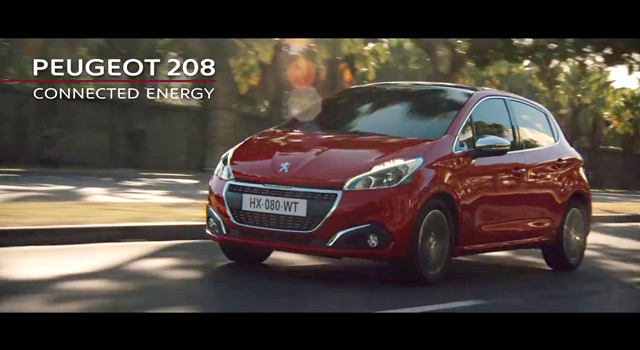 Publicité TV Peugeot 208 restylée – « Connected Energy » (30s) – 2017