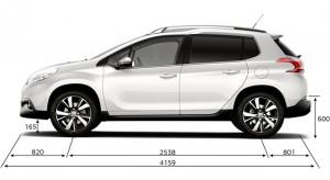 Caractéristiques Techniques de la Peugeot 2008