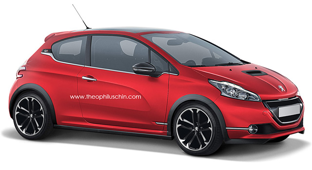 de nouveaux photomontages de la peugeot 208 gti news. Black Bedroom Furniture Sets. Home Design Ideas