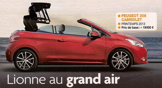 Une Peugeot 208 Cabriolet pour le printemps 2013 ?