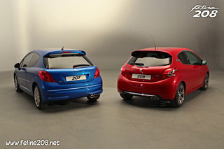 Comparatif - Peugeot 207 RC - Peugeot 208 GTi
