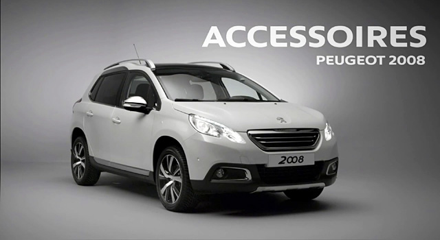les accessoires de la peugeot 2008 vid os f line 208. Black Bedroom Furniture Sets. Home Design Ideas
