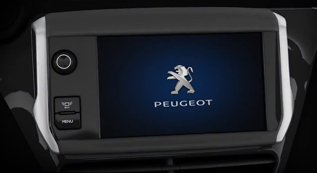 pr sentation interface tactile peugeot 208 vid os f line 208. Black Bedroom Furniture Sets. Home Design Ideas