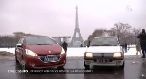 Face à face entre la Peugeot 208 GTi et la 205 GTi - Direct Auto (D8)