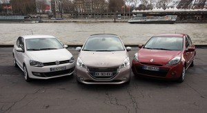 Comparatif Peugeot 208, Renault Clio et Volkswagen Polo