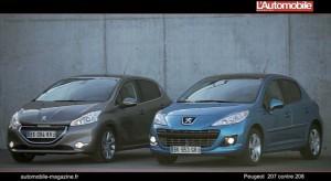Que choisir entre la Peugeot 208 et la Peugeot 207 ?