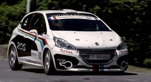 La Peugeot 208 R2 au Tour de Corse 2012