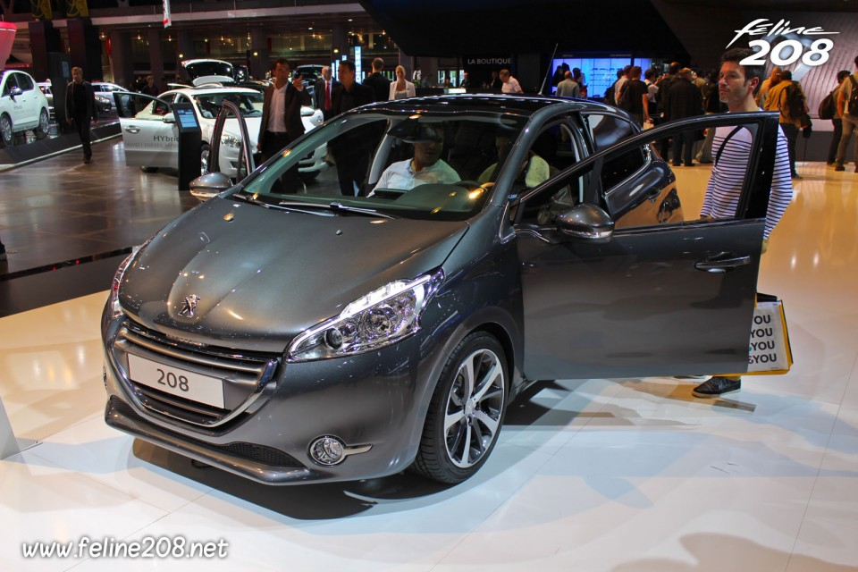 peugeot 208 f line gris shark 1 6 e hdi 115 mondial de paris 2012 3 007 photos peugeot 208. Black Bedroom Furniture Sets. Home Design Ideas
