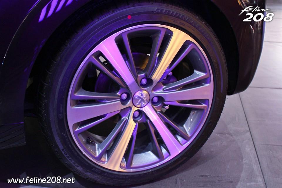 jante aluminium mercure 17 u0026quot  peugeot 208 xy 1 6 thp 155 purple night - mondial de paris 2012