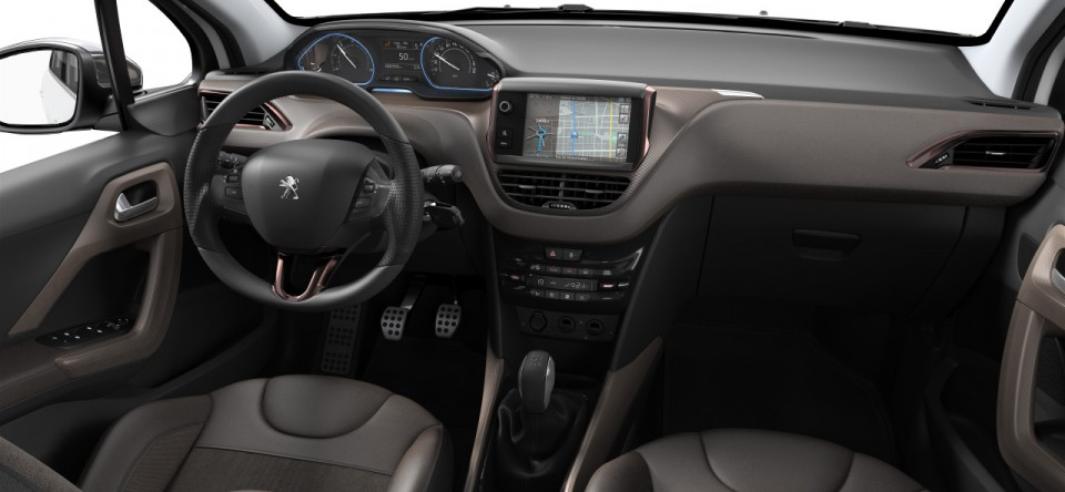 Tableau de bord int rieur mi tep alcantara brundy for Interieur peugeot 2008