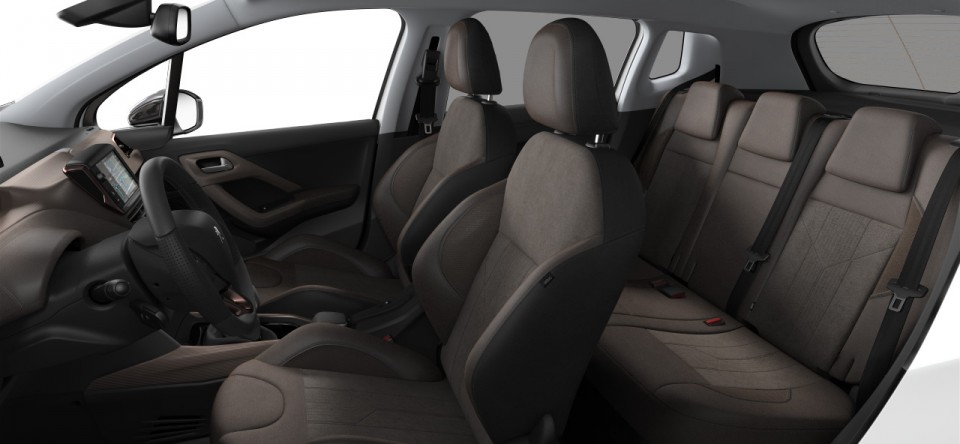 Int rieur mi tep alcantara brundy peugeot 2008 for Interieur peugeot 2008