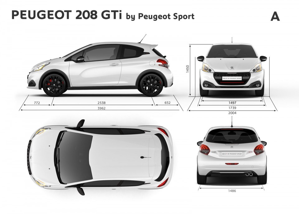 dimensions ext rieures mm peugeot 208 gti by peugeot sport 2 photos peugeot 208 2008. Black Bedroom Furniture Sets. Home Design Ideas