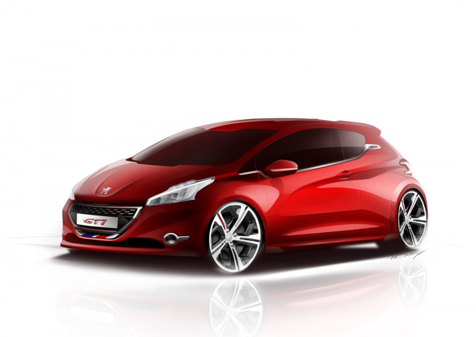 sketch peugeot 208 gti photo officielle 1 042 photos peugeot 208 2008 f line 208. Black Bedroom Furniture Sets. Home Design Ideas