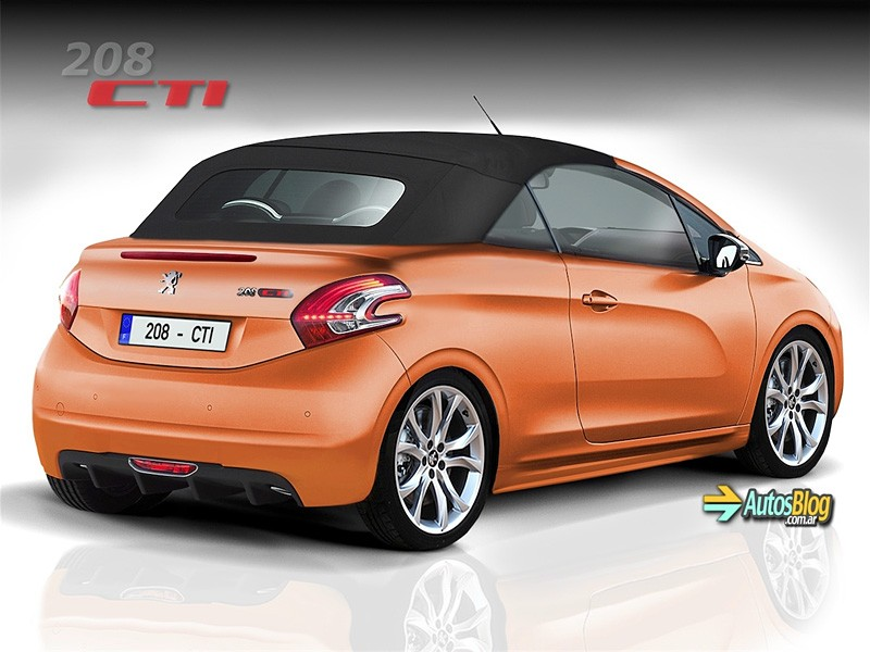photo peugeot 208 cti orange 02 photos peugeot 208 2008 f line 208. Black Bedroom Furniture Sets. Home Design Ideas