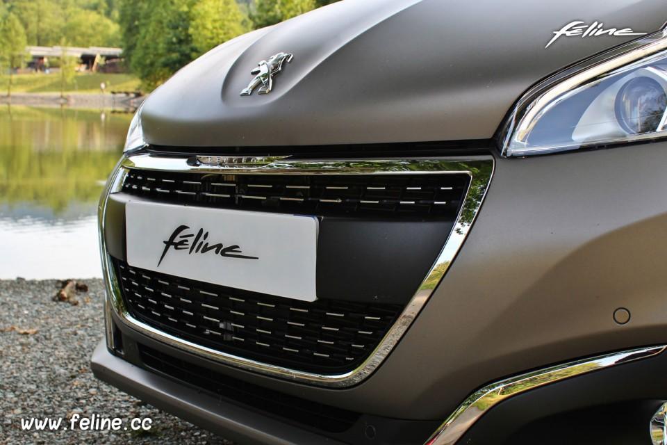 Photo calandre avant chromée Peugeot 208 Féline Ice Grey ...