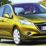 Photo montage Peugeot 208 Berline 5 portes Jaune